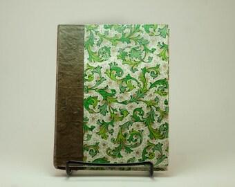 Florentine Paper in Green and Gold - Sketchbook & Art Journal