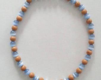 "Blue and Beige ""Beach"" Bracelet"