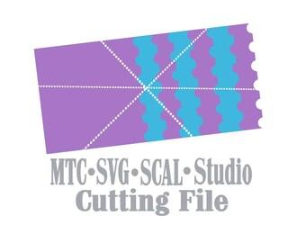 SVG Cut File Mini Album #02 Scrapbook Shape Book Cutting File MTC SCAL Cricut Silhouette Cutting File
