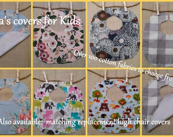 Baby bib with pocket Cotton and PUL waterproof Infant feeding