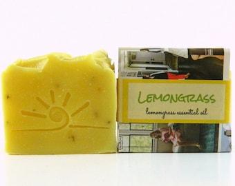 All Natural Lemongrass Soap / Handmade Essential Oil Soap