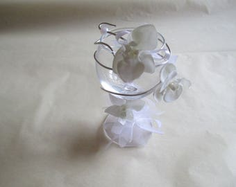 Table decoration for wedding, white color