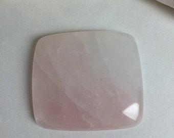 Rose quartz cabachon