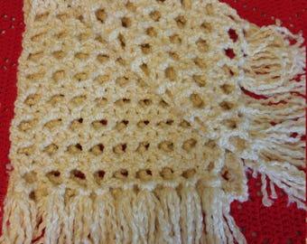 Crochet Chenille Bulky Scarf