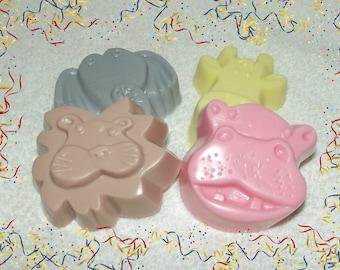Zoo Animals Soap Set, Zoo Party Favors, Jungle Animal Party Favors, Safari Theme Favors, Circus Birthday, Hippo Favor, Elephant Soap,