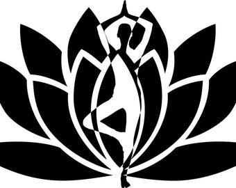 Pattern transfer Flex Yoga Zen lotus flower
