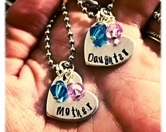 Mother daughter necklacea, Mom and Daughter jewelry, Mother and Daughter stuff, matching mom and daughter necklace,  Mom/ daughter jewelry