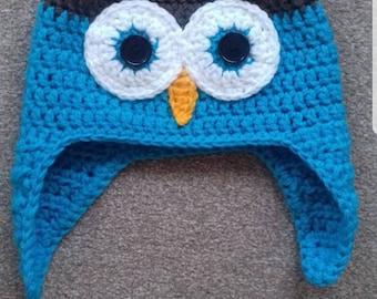 Crochet adult owl hat