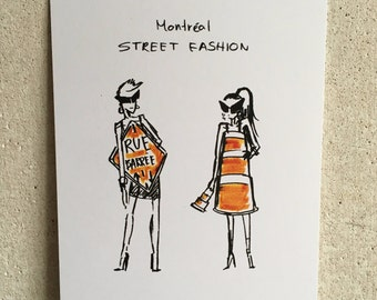 Montreal Street Fasion print