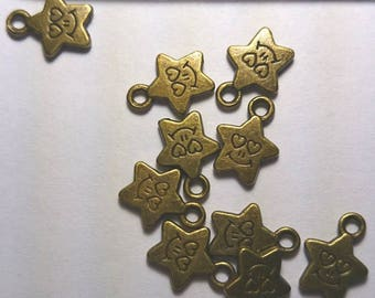 Stars with face brass 13 mm