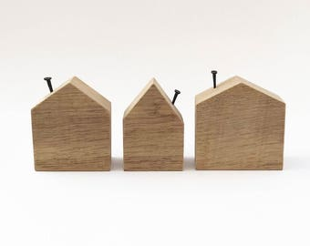 Wooden Houses, Wood Gift, Wooden Decor, Wooden Ornaments, Home Accessories, House Ornaments, Decorative Mini Houses, Decor House Blocks