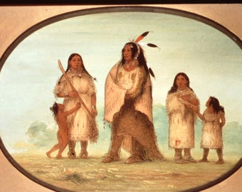 35mm Color Slides George Catlin Smithsonian Museum Native Americans Box of 62