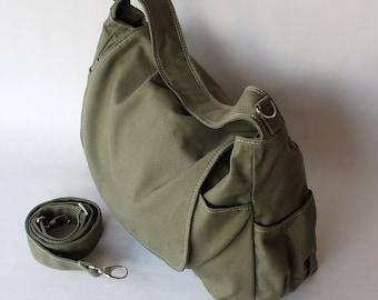 Big SALE - Messenger Bag, Dark Green, Shoulder Bag, Women, Canvas School bag, crossbody bag, Handbag,  Black Friday SALE 25%