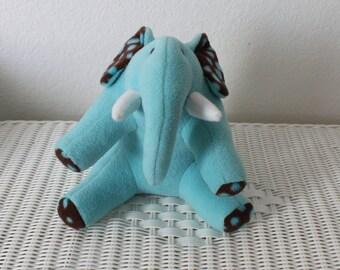 Handmade Blue Stuffed Elephant-Plush/Toy