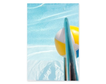 Swimming Pool Art Print - Turquoise Water Art - Pool Photography - Large Framed Wall Art - Beach House Wall Decor - Summer Art