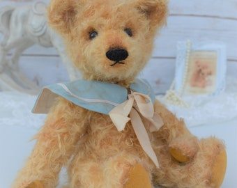"Antique Style Teddy Bear - Vintage Curl Mohair Bear ""Oliver"""