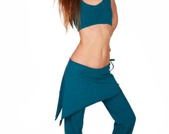 Skirt Pants, Womens Sport Pants, Organic Cotton Pants, Lounge Pants, Short Yoga Skirt, Women Sport Wear, Yoga Clothing, Long Sport Pants,