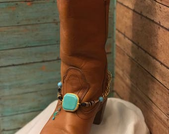 Boot jewelry. Nice size turquoise! Single One (1) Free Shipping!
