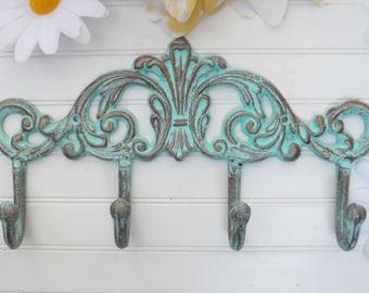 Shabby Chic Hooks,Rustic Wall Hooks,Metal Wall Hooks,Bathroom Hooks,Towel Hooks,Shabby Chic Decor,Wall Mounted Hooks