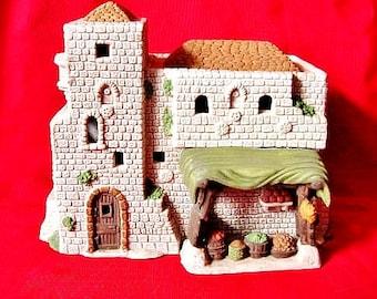 Little Town of Bethlehem Market Place Dpartment 56 Village Scenes Porcelain