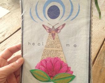 Healing Collage ~ Original Collage ~ Moth Collage