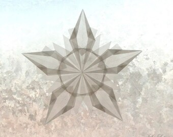 Snowflake Window Transparency - White Winter Window Star Decoration - Waldorf Inspired