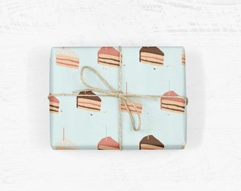 Birthday Cake Wrapping Paper