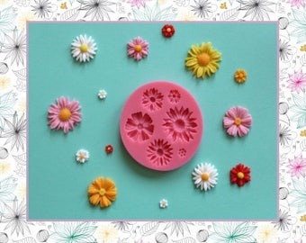 Silicone mold: flowers - daisies