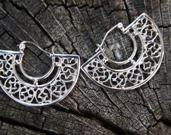 Handmade Earrings  Sterling Silver CLEOPATRA'S  FAN