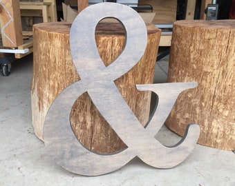 Large Ampersand, Ampersand Sign, Wedding Prop, &, And Symbol, Gallery Wall Decor, photo prop, Wood Ampersand, Large Wood Ampersand,