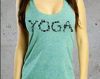 YOGA POSES Shirt, Yoga Tank Top, Yoga Tshirt, Yoga clothes, Graphic Tees For Women, Racer Back Tank Top American Apparel Tri-Blend Tee S M L