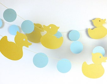 Yellow Rubber Duck Garland, Yellow Rubber Duck Party, Rubber Duck Baby Shower, Ducky Garland, Duckling Nursery Decorations