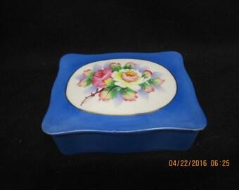 Floral Design Porcelain Trinket Box