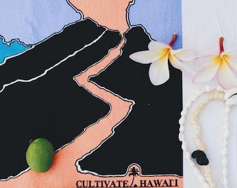 Hawaiian Tea Towel, Pele