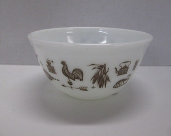 Pyrex Early American Ovenware #402 1.5 quart nesting mixing bowl