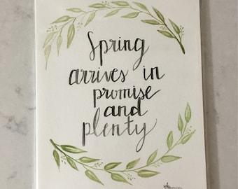 Spring Original Watercolor