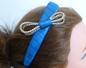 Olivia Blue headband bridesmaid Party prom