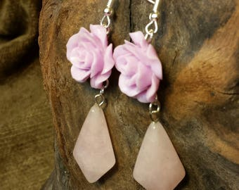 SALE #HonorSacrifice ~ Lilac and Rose Albanian Blossoms Earrings