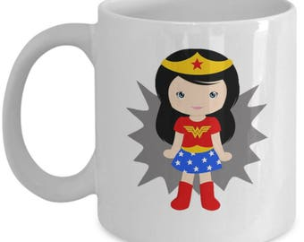 Your my Wonderwoman Superhero Mug | Gift For Mum Wife Girlfriend | Birthday Christmas Valentines| Superheros