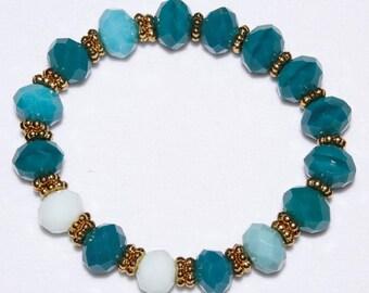 Bracelet/Colors in Aquas & Greens