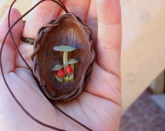 Enchanted forest nest necklace