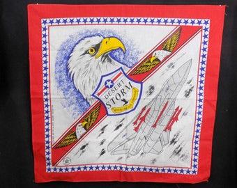 Dessert Storm -Desert Storm eagle -Military man cave decor -Desert Storm Bandana -Vintage 1991 Gulf War Military- military memorabilia  # 30