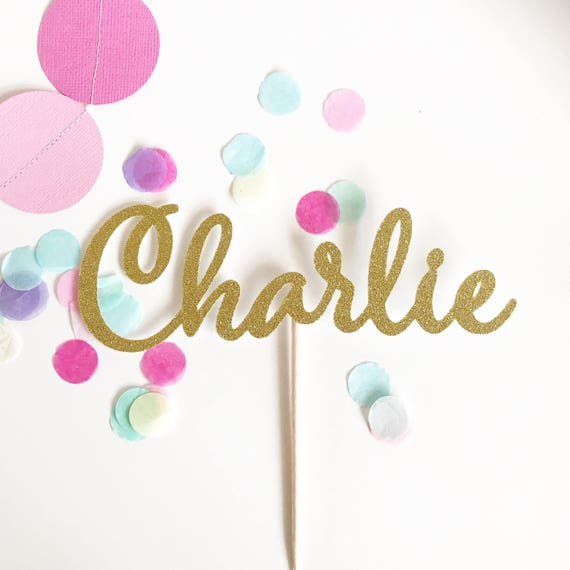 Word, Name or Age Glitter Cake Topper | Happy Birthday Topper | Cake Topper | Custom Cake Topper
