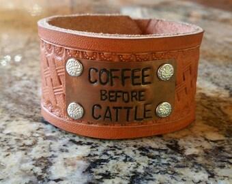 Coffee before Cattle bracelet