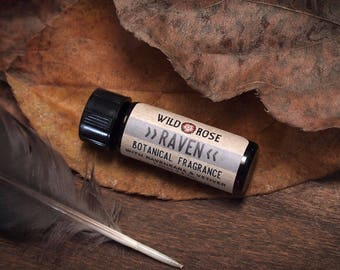 Natural Perfume Oil RAVEN Essential Oil Cologne Unisex / Earthy 3.7 ml // 1 Dram
