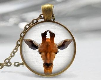Giraffe Pendant, Giraffe Necklace, Giraffe Art Jewelry, Giraffe Art Pendant, Giraffe Jewelry, Gift, Giraffe Art Pendant, Bronze, Silver, 062