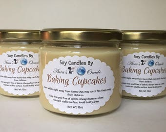 Baking Cupcakes 12oz Soy Wax Candle