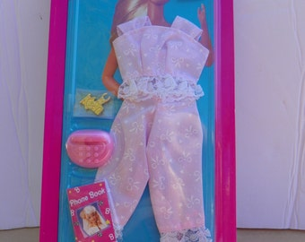 Vintage Mattel Barbie #68021 Sleep 'N Fun  Fashions NRFB , 1994 Barbie Clothing Clothes  New in Package , Collectible Barbie Doll Outfit