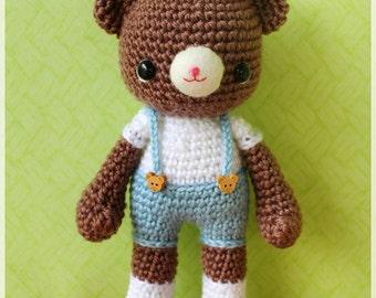 PDF Crochet Pattern - Mocha (only boy bear)