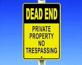 Private Property Aluminum Sign
